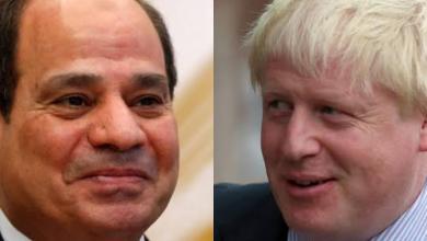 """صورة """"السيسي"""" يبحث مع """"جونسون"""" مستجدات الأزمة الليبية"""