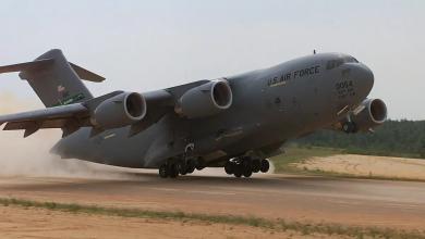 صورة جدل حول هبوط طائرة تابعة للجيش الأمريكي في بنغازي