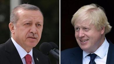 """صورة جونسون لأردوغان: يجب تسوية الأزمة الليبية """"سياسياً"""""""