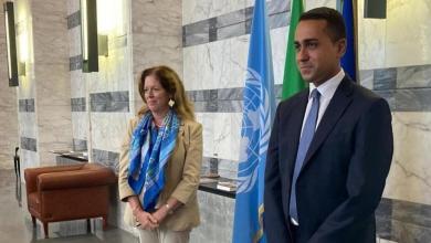 صورة الملف الليبي يجمع ويليامز مع وزير الخارجية الإيطالي