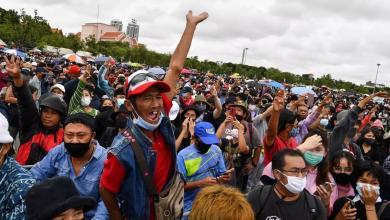 صورة نفد صبرهم.. التايلانديون يحتشدون في بانكوك ضد الملك والجيش