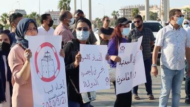 صورة أحد منظمي مظاهرة بنغازي ضد الفساد والمفسدين يكشف لـ218 تفاصيل ما حدث