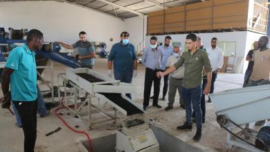 مشروع إعادة تدوير الإطارات التالفة ضمن ملف البيئة من أعمال بلدية بنغازي