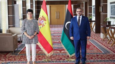 """صورة المشري يبحث مع السفيرة الإسبانية تداعيات """"حرب طرابلس"""""""