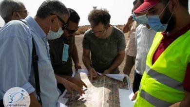 """صورة لجنة من """"مواصلات الوفاق"""" لتقييم احتياجات مطار طرابلس الدولي"""