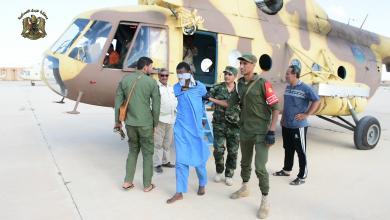 صورة القبض على مجموعة مسلحة تختطف المواطنين في طبرق