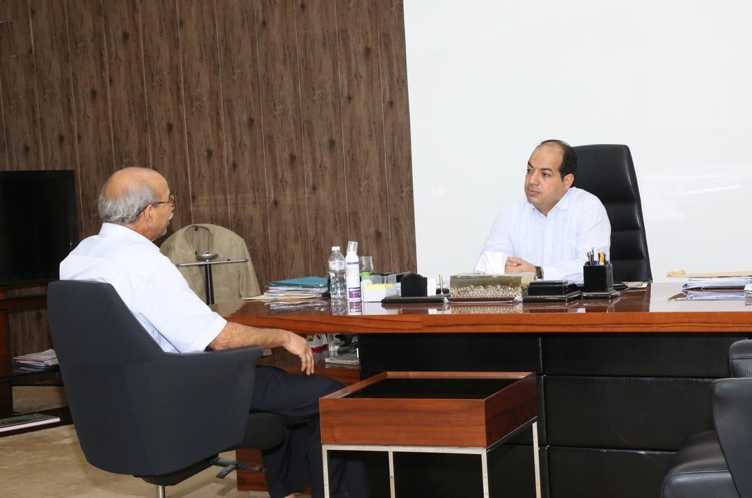النائب بالرئاسي أحمد معيتيق يلتقي سالم بن تاهية رئيس اللجنة المركزية لانتخابات المجالس البلدية