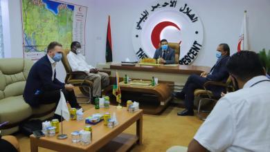 صورة تعاون وثيق بين الهلال الأحمر الليبي وبرنامج الأمم المتحدة الإنمائي