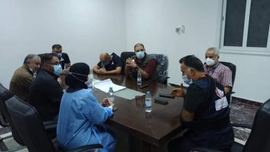 صورة فريق من المركز الوطني لمكافحة الأمراض يزور مدينة الزاوية
