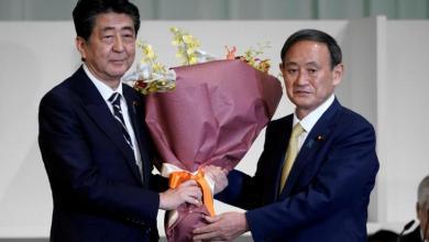 """صورة الحزب الياباني الحاكم ينتخب """"سوغا"""" خلفاً لرئيسه """"آبي"""""""
