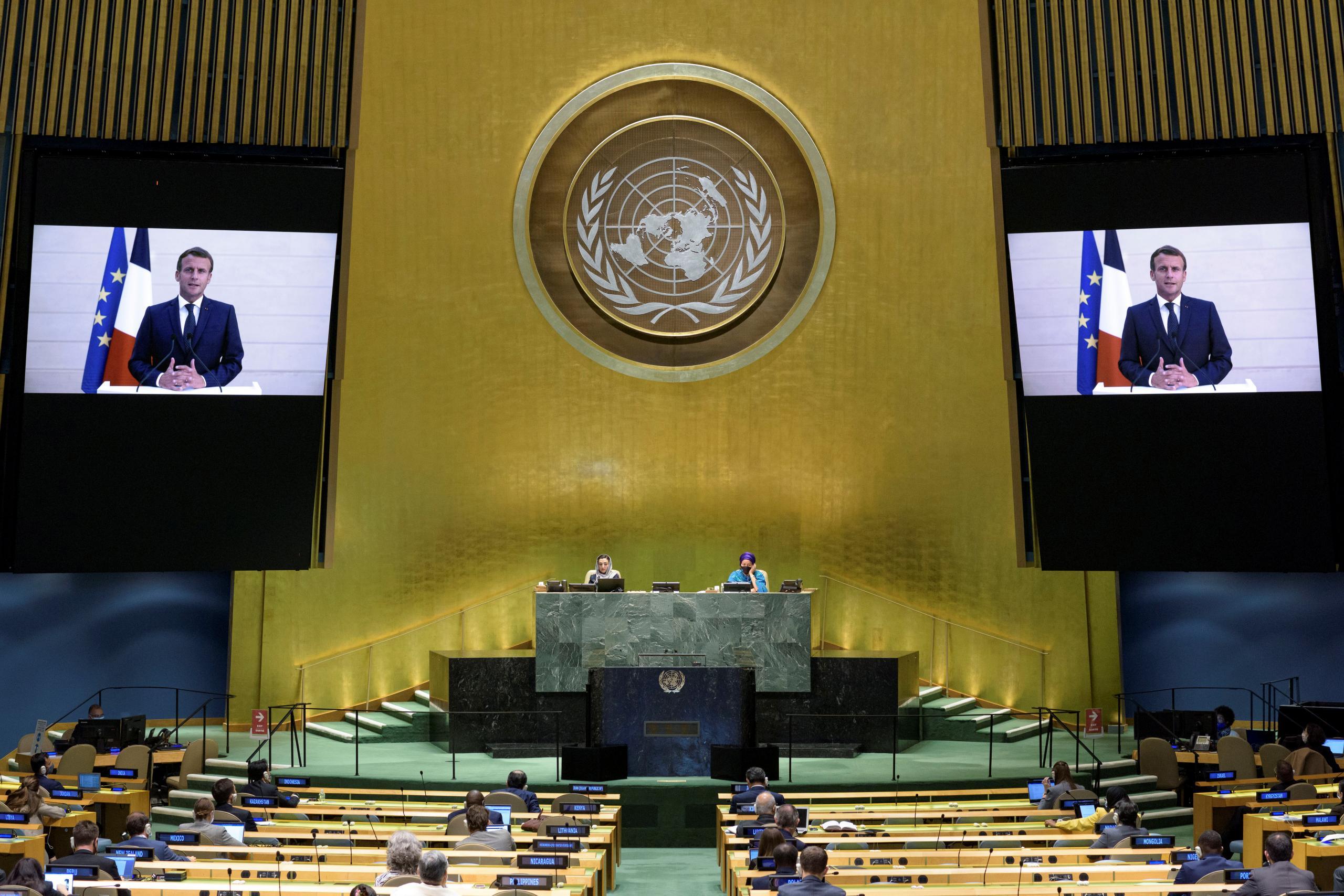 ماكرون عبر كلمته للجمعية العامة للامم المتحدة يطالب انقلابيي مالي بتسليم السلطة للمدنيين
