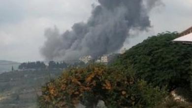 صورة انفجار مخزن أسلحة لحزب الله يهز بلدة لبنانية