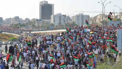 """صورة ساعات قبل انطلاق مظاهرة """"إنقاذ ليبيا من الفساد والمفسدين"""""""
