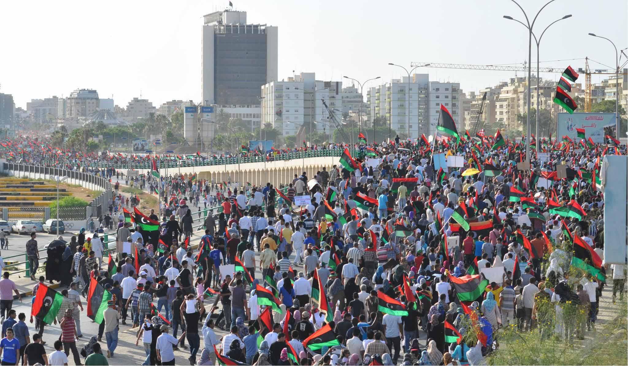 """مظاهرة في مدينة بنغازي -""""أرشيفية"""""""