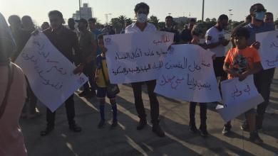 """صورة متظاهرو بنغازي يكشفون تفاصيل اختفاء """"ربيع العربي"""" ويحملون وزير الداخلية مسؤولية سلامته"""
