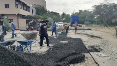 """صورة استعداد """"بلدية بوسليم"""" لموسم الأمطار بصيانة البنية التحتية"""