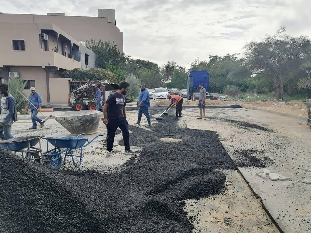 أعمال الصيانة في بلدية أبوسليم استعداداً لموسم الشتاء