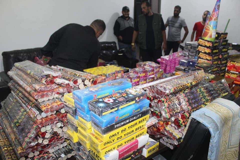 مديرية أمن طرابلس تضبط كميات كبيرة من الألعاب النارية