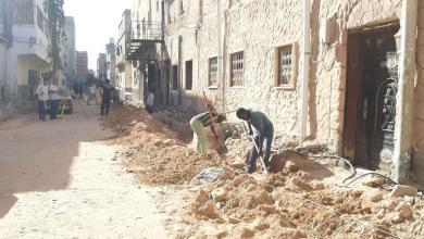 صورة المجلس البلدي أبوسليم يشرع في ترصيف الشوارع الفرعية