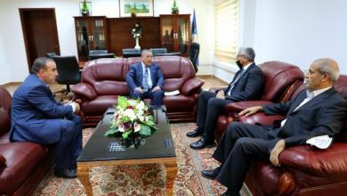 صورة باشاغا يلتقي سفير جمهورية الجزائر لدى ليبيا