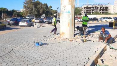 صورة بلدية أبوسليم تواصل تنفيذ مشروع تجديد وتحديث الطرق