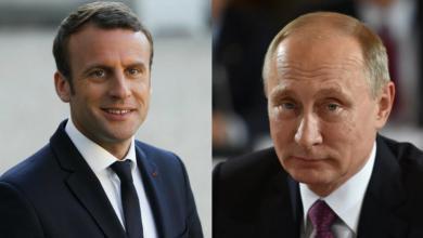 """صورة """"بوتين وماكرون"""" يدعوان إلى ضرورة وقف التصعيد في """"قره باغ"""""""