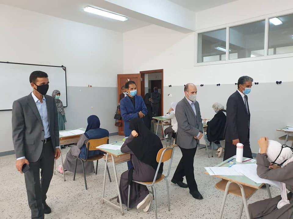 وزير تعليم الوفاق يتفقد سير امتحانات شهادة إتمام التعليم الفني المتوسط