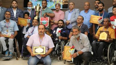 صورة بلدية بنغازي تُكَرِّم منتخب كرة السلة على الكراسي المتحركة