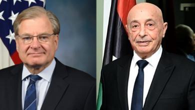 صورة لقاء مرتقب بين عقيلة صالح والسفير الأميركي لدى ليبيا