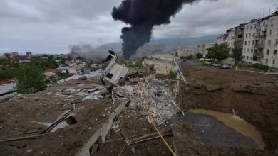 """صورة انفجارات في """"قره باغ"""".. وأذربيجان تنفي استعمال """"الفوسفور"""""""