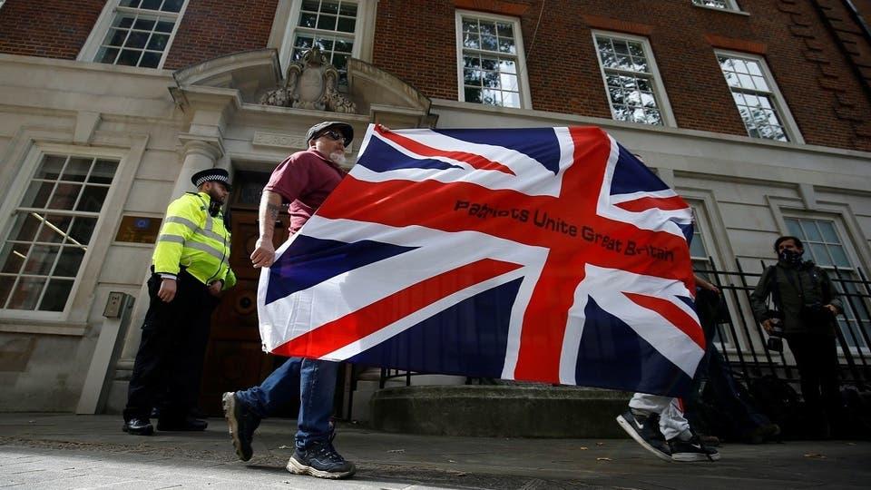 مجموعة من مؤيدي خروج بريطانيا من الاتحاد الأوروبي