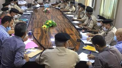 صورة اجتماع مديرية أمن طرابلس بشأن صيانة مراكز الشرطة