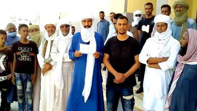 صورة نشطاء أوباري يطالبون بعقد الحوارات في ليبيا