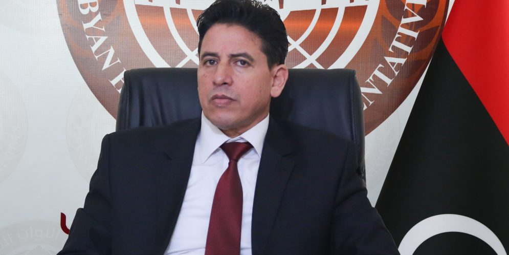النائب يوسف العقوري -رئيس لجنة الشئون الخارجية بمجلس النواب الليبي