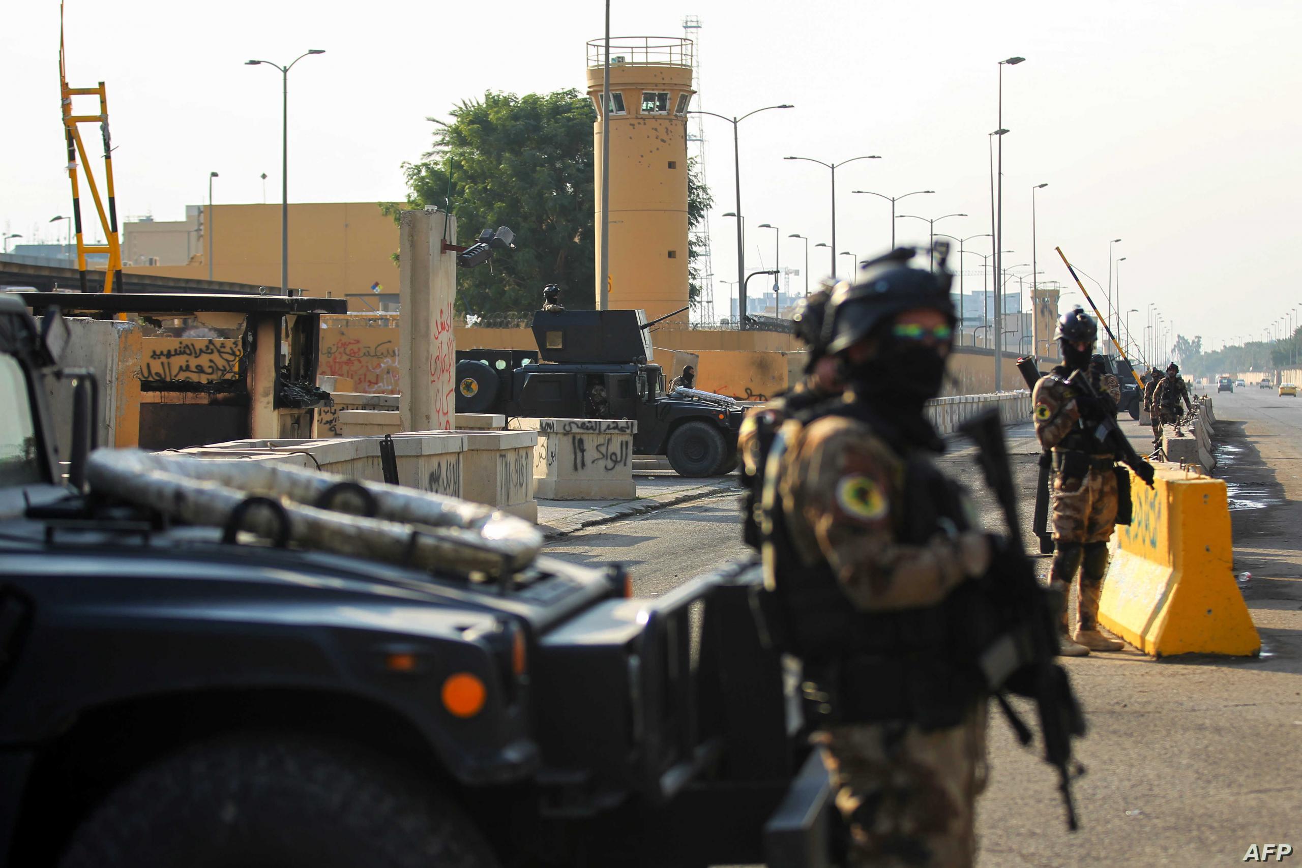 استهداف قاعدة فيكتوريا الأميركية قرب مطار بغداد بصواريخ كاتيوشا