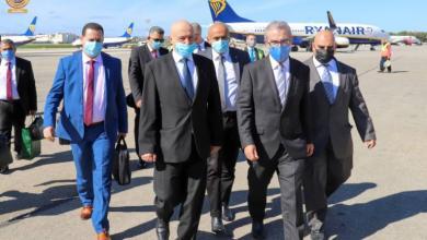 """صورة """"عقيلة صالح"""" يصل مالطا في زيارة رسمية –((صور))"""