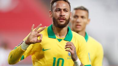 """صورة """"هاتريك نيمار"""" يقود البرازيل للفوز على بيرو بتصفيات المونديال"""