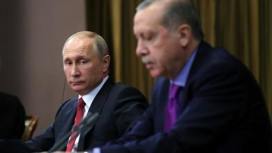 صورة بوتين وأردوغان يبحثان ملف تسوية الأزمة الليبية