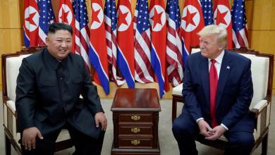 """الرئيس الأميركي دونادل ترامب مع زعيم كوريا الشمالية كيم جونغ أون-""""أرشيفية"""""""