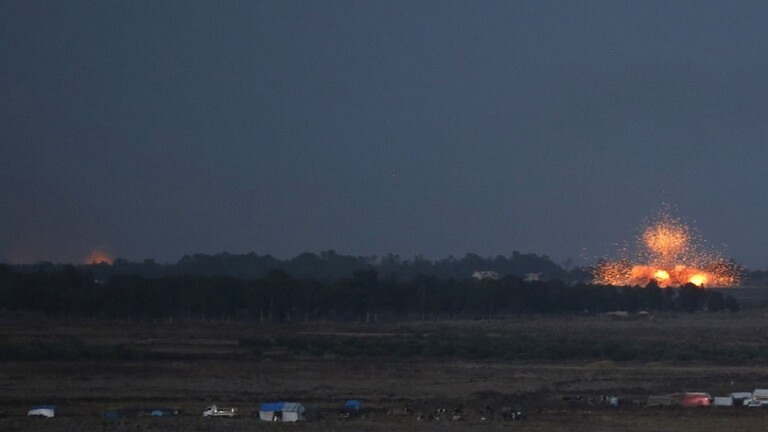 التلفزيون السوري : انفجار ضخم في مدينة درعا