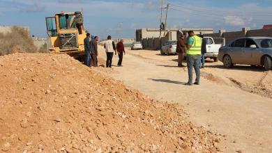 """بلدية طبرق تتفقد مشروع طريق """"بورحيم"""""""