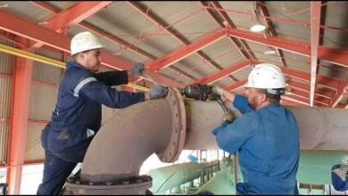 صيانة ضاغطة الغاز بحقل آمال النفطي
