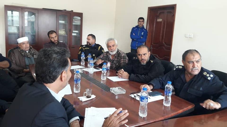 اجتماع لجنة المخابز التابعة لبلدية طبرق