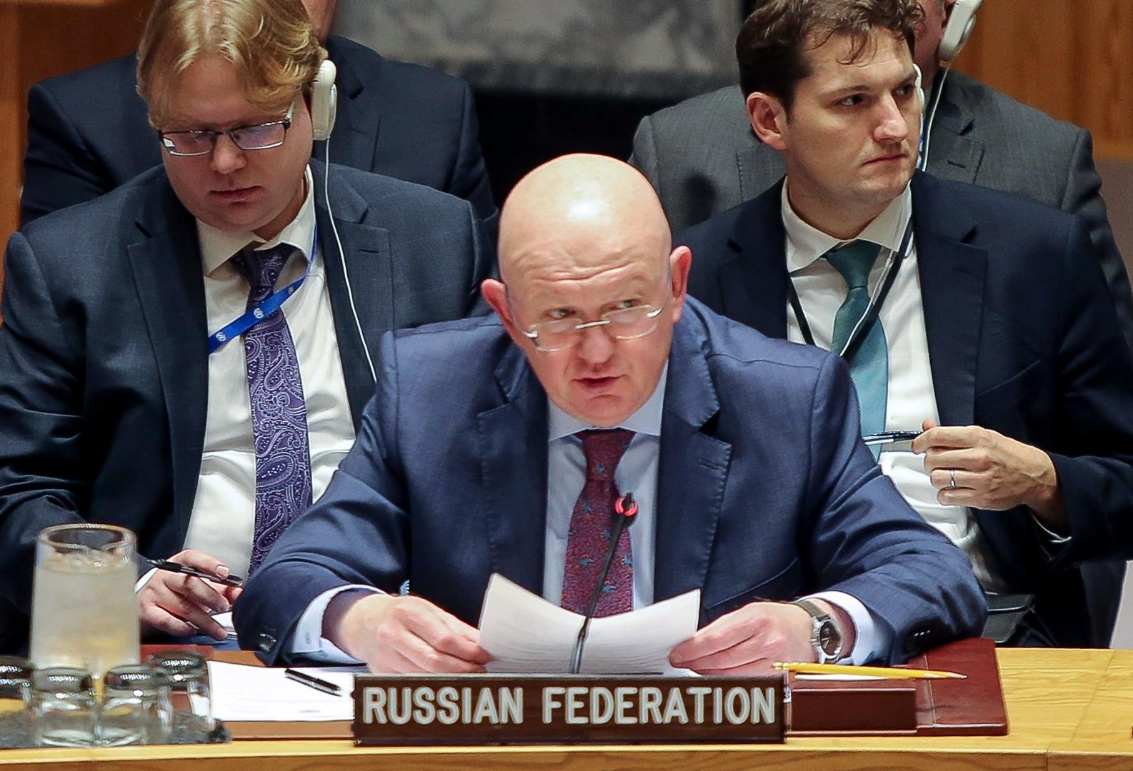 مندوب روسيا في مجلس الأمن فاسيلي نيبينزيا- إرشيفية