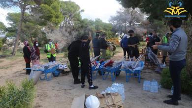 """زوارة تُطلق حملة نظافة في حديقة """"شجر اللوبان"""""""