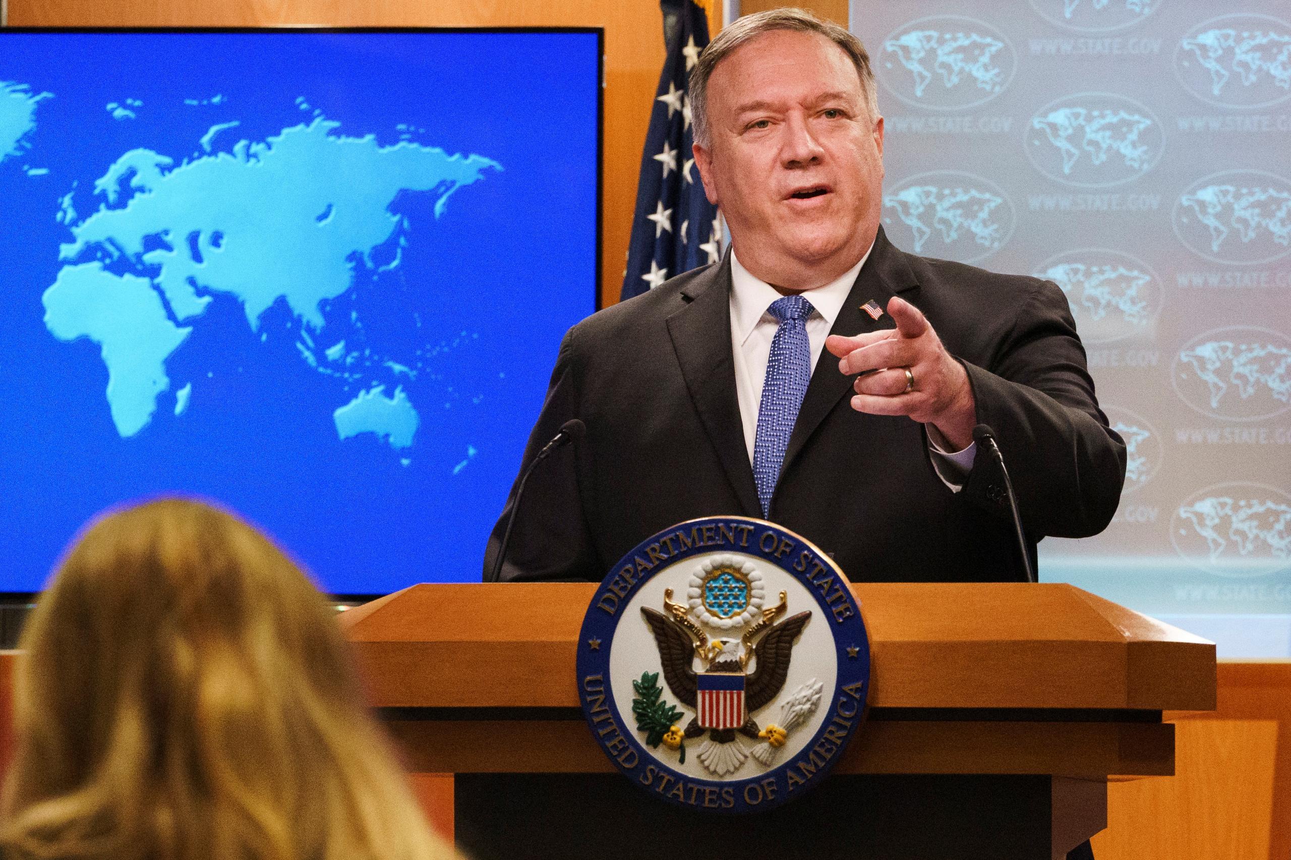 """وزير الخارجية الأميركي مايك بومبيو: الإدارة الأميركية بحاجة للعمل مع أوروبا لوضع حد لتصرفات تركيا-""""رويترز"""""""