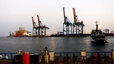ميناء مدينة بورتسودان حيث وقعت روسيا مع حكومة السودان إنشاء منشأة للبحرية الروسية
