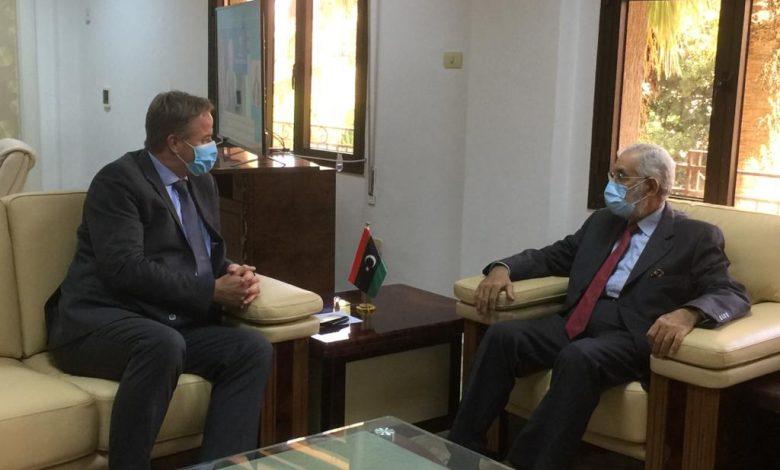 سيالة يبحث مع السفير الهولندي العلاقات الثنائية