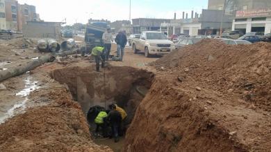 بلدية بنغازي.. بداية الصيانة في شارع العراق